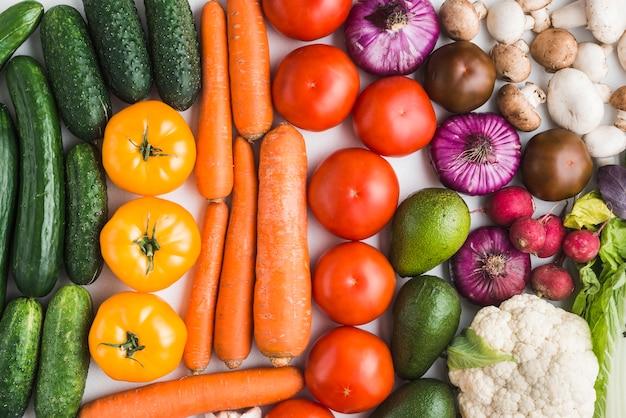 Assortment of fresh vegetables Free Photo
