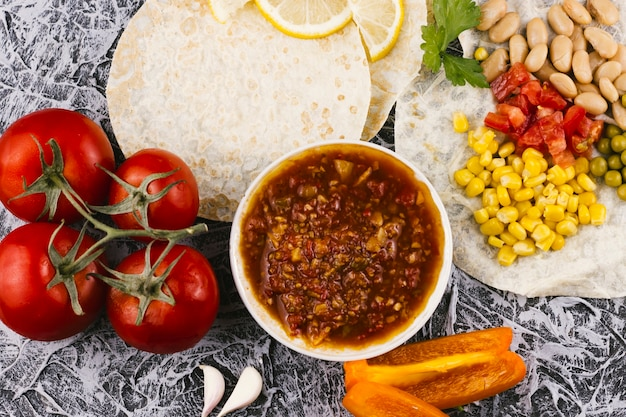 Assortment of mexican healthy food Free Photo