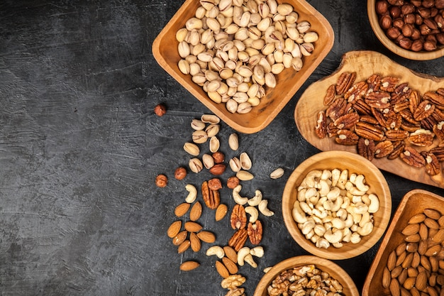 Assortment of nuts Premium Photo