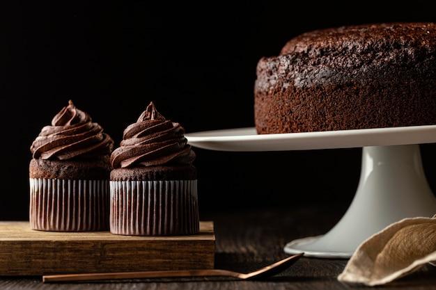 Ассортимент вкусного шоколадного торта Premium Фотографии