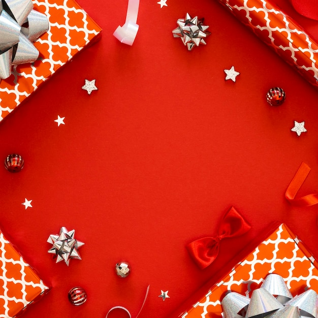 다양한 축제 포장 선물 프리미엄 사진