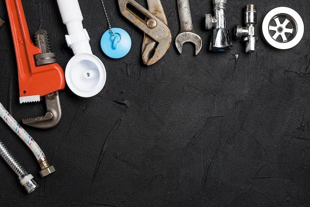 Assortment of plumbing tools Free Photo