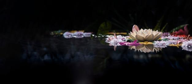 Assortment of thermal spring flowers Premium Photo
