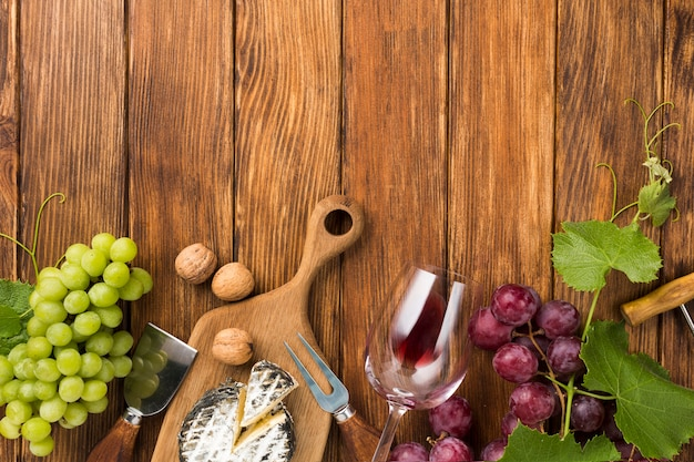 Assortment for white and red wine Free Photo