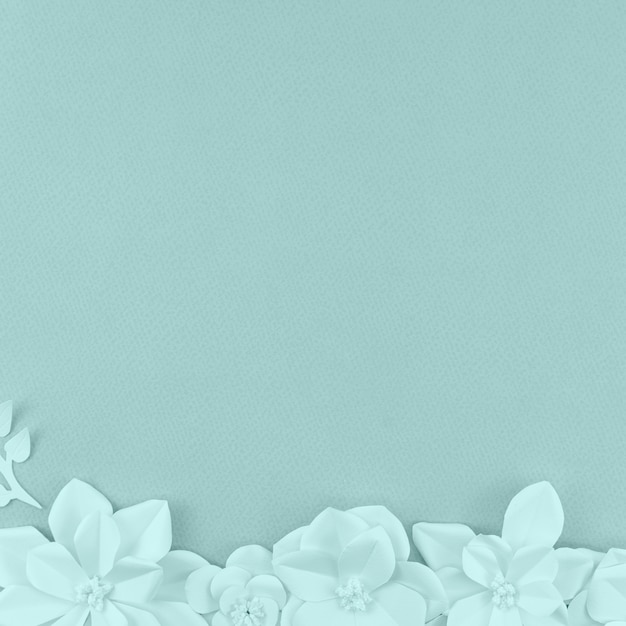 Assortment with flowers and blue background Free Photo