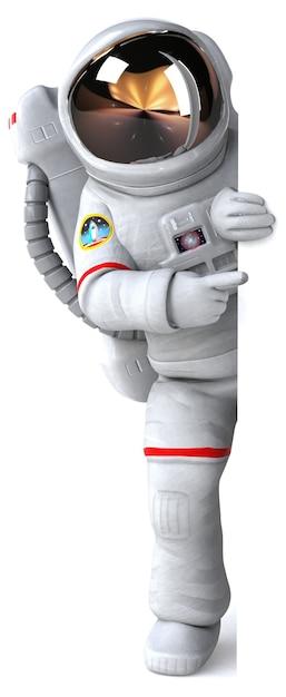 Astronaut 3d illustration Premium Photo