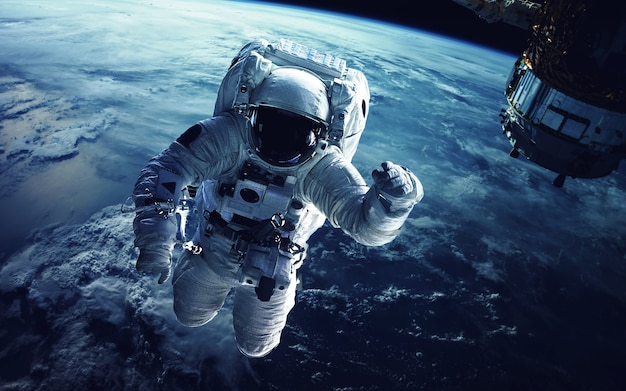 Astronaut in outer space Premium Photo