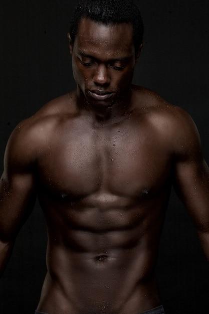 Black nude male