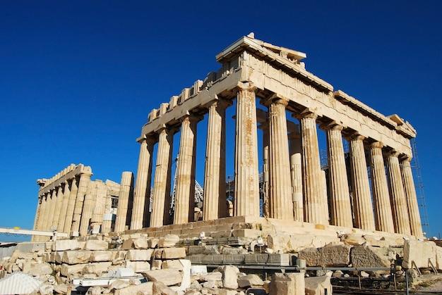 Athens city greece parthenon in acropolis landmark architecture Premium Photo