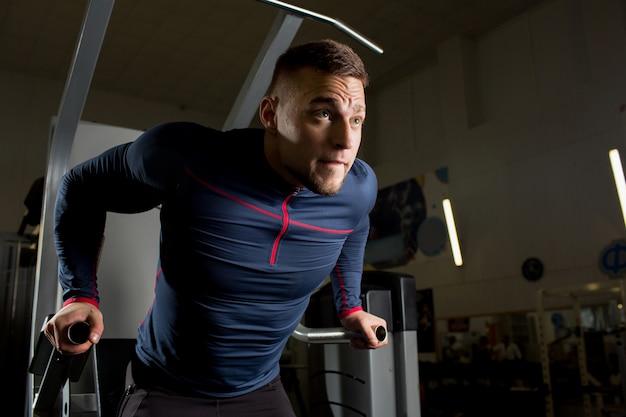 Athlete in gym Free Photo