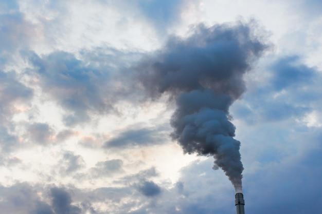 Atmosphere contamination with fumes smoke Premium Photo