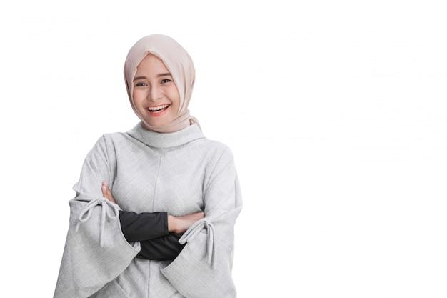 Attractive asian female young muslim woman Premium Photo