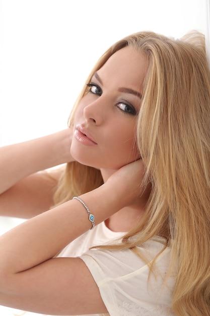 Attractive blonde Free Photo