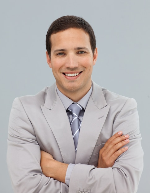 Attractive businessman with folded arms  Premium Photo