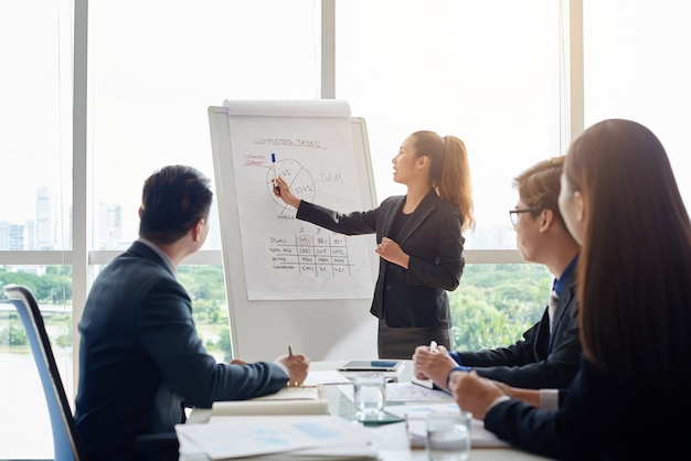 Attractive businesswoman holding meeting Free Photo