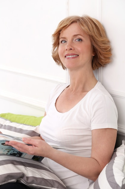 Attractive woman in middle age Free Photo