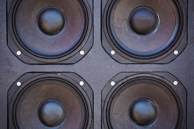 Audio columns are a system of several pieces. close-up audio systems Free Photo
