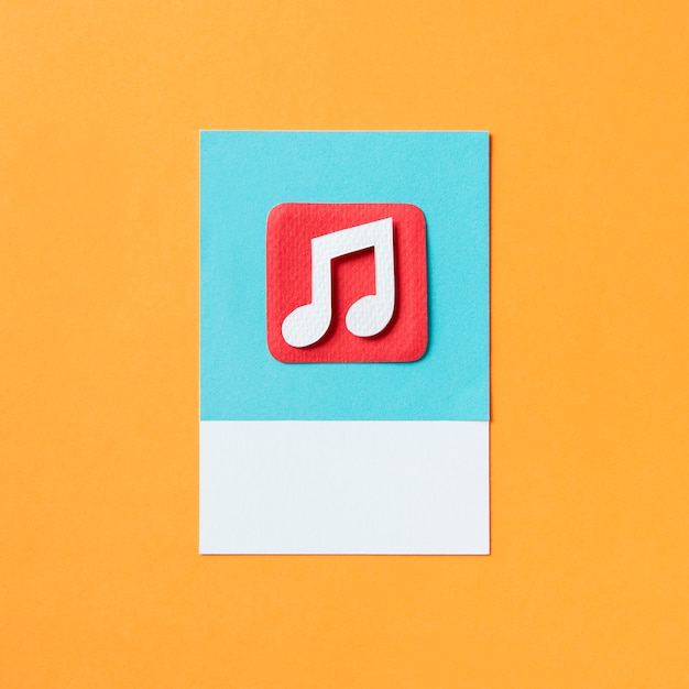Audio musical note icon illustration Premium Photo
