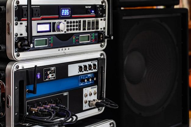 Audio system for meeting work. Premium Photo