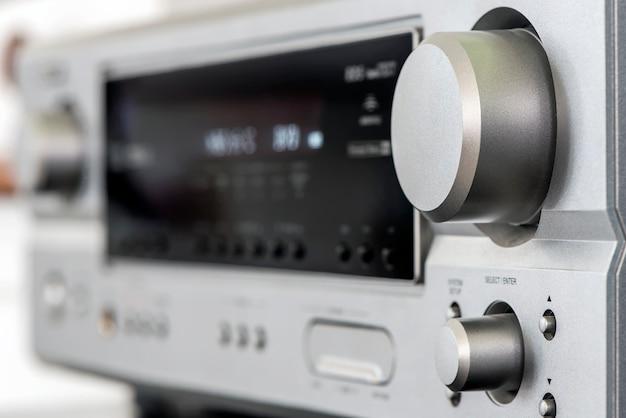 Audiophile hifi amplifier with volume control knob. Premium Photo