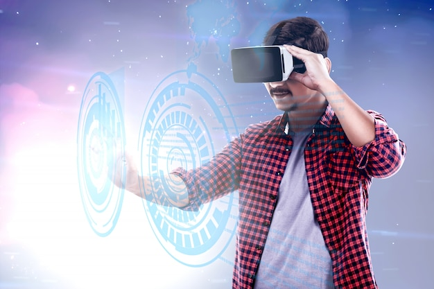 Augmented reality technology Premium Photo