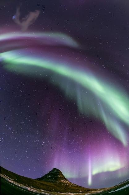 Aurora borealis iceland Premium Photo
