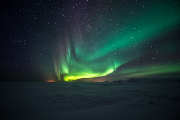 Aurora borealis northern lights Premium Photo