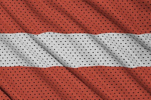Austria flag printed on a polyester nylon sportswear mesh fabric Premium Photo