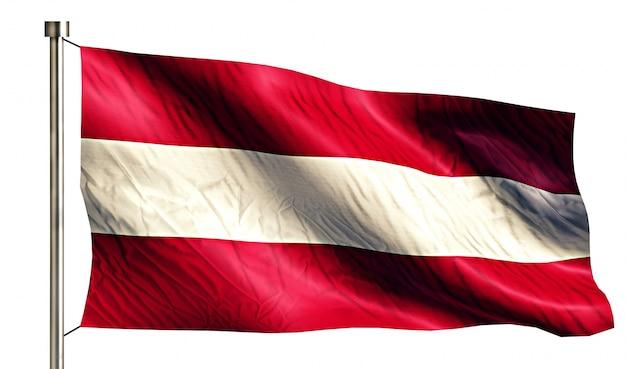 Austria national flag isolated 3d white background Free Photo