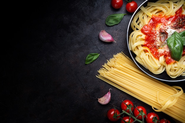 Authentic italian pasta Free Photo