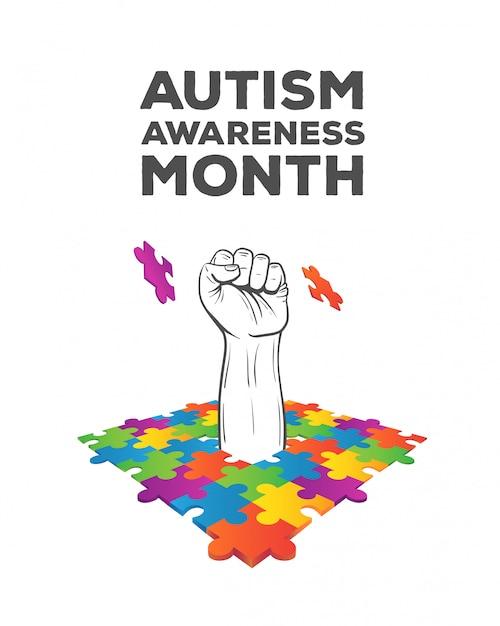 Autism awareness design vector Premium Photo