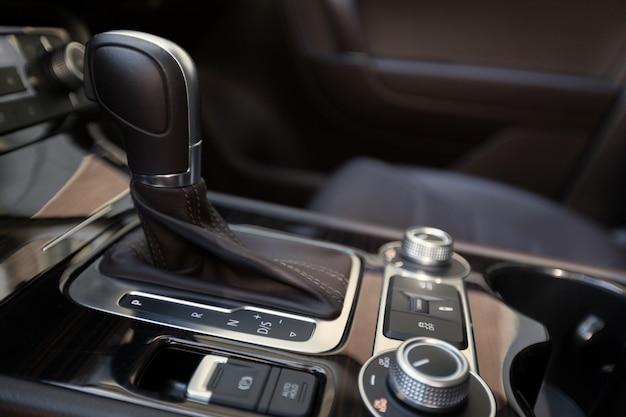 Automatic transmission gear shift in car Premium Photo