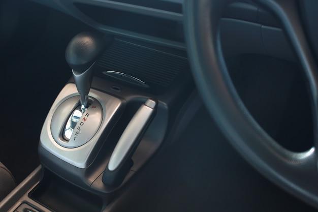Automatic transmission gear shift. Premium Photo