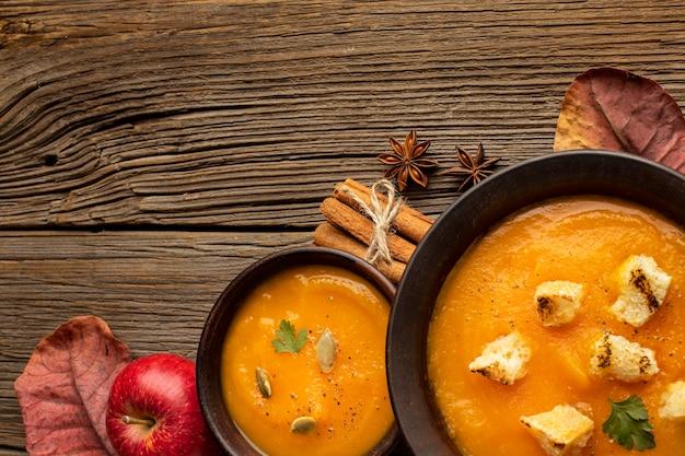 秋のフードスープクリーム 無料写真