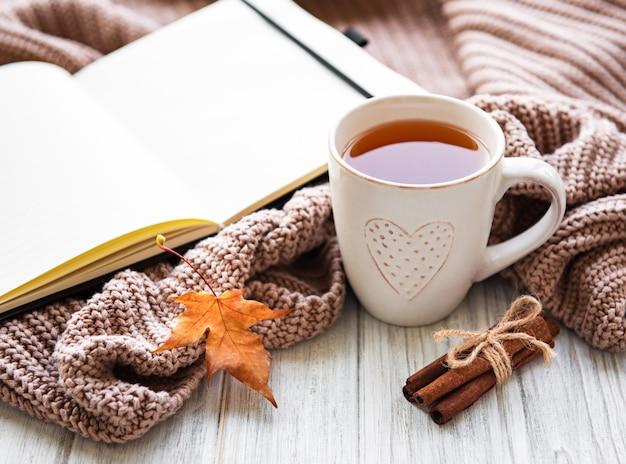Autumn home cozy composition Premium Photo