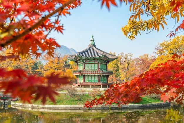 Осень во дворце кёнбуккун, корея. Бесплатные Фотографии