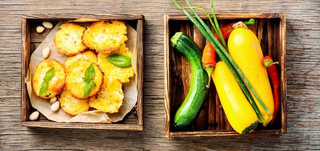 Autumn muffins from zucchini Premium Photo