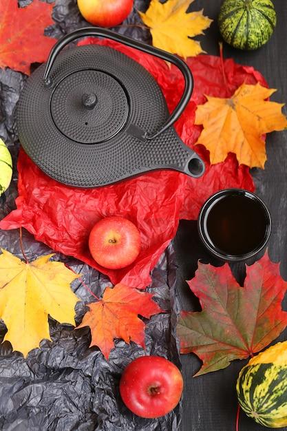 Autumn tea Premium Photo