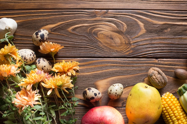 Autumn Vegetables With Space On Top Free Photo