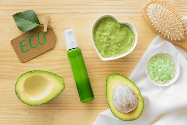 Cosmetici naturali di crema di avocado spa Foto Gratuite