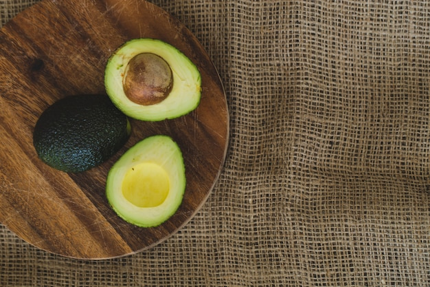 Avocado on the table Free Photo