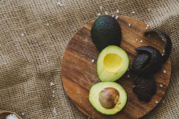 Avocado on the table Free Photo