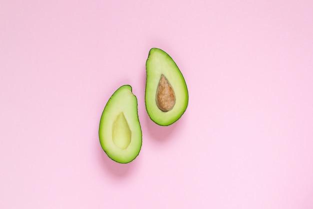 Avocado, top view, copy space, healthy food concept Premium Photo