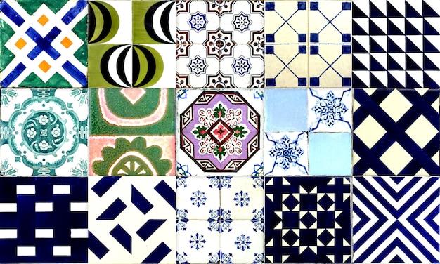 Безшовная плитка португалии или испании azulejo. высокое разрешение. Premium Фотографии