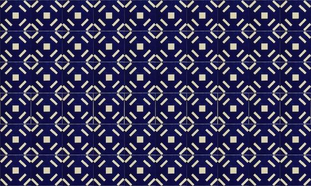 Бесшовные португалия или испания azulejo плитка фон Premium Фотографии