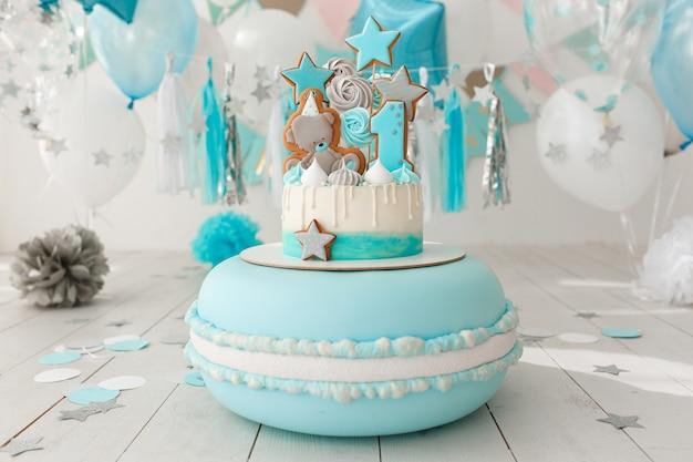 Baby birthday cake Free Photo