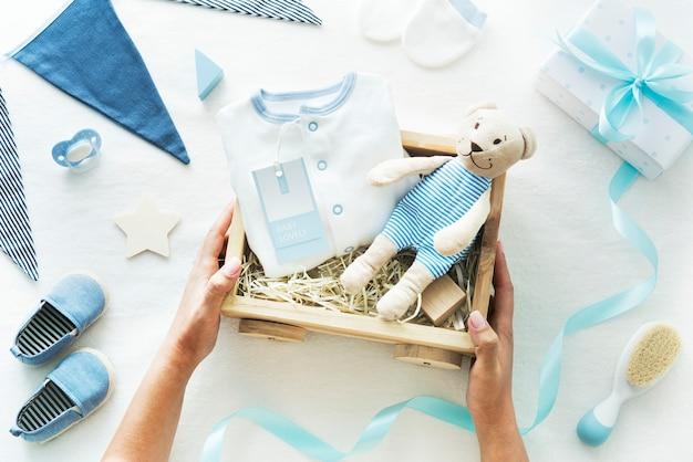 Baby boy baby shower gift Premium Photo