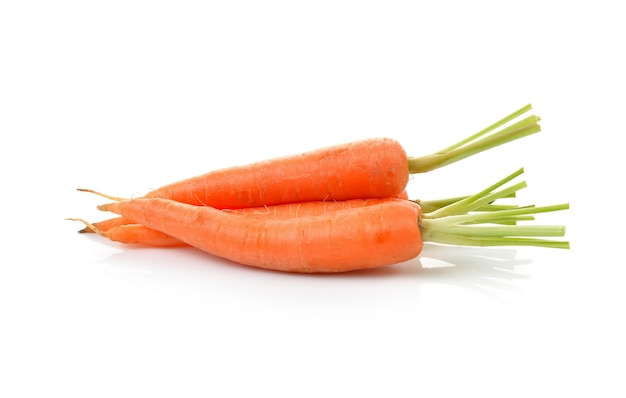 Baby carrot isolated on white background Premium Photo