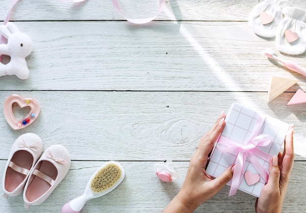 Baby girl baby shower Premium Photo