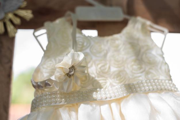 Baby girl dress - baptism Premium Photo